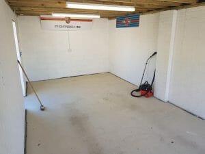 How to paint garage floor - step 1