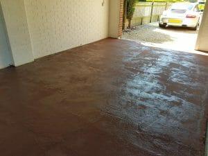 How to paint garage floor - Step 2 - Epoxy Primer