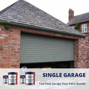 Single Garage Two Pack Garage Floor Paint Bundle