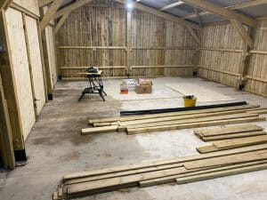 Barn Conversions to Garage - Work Begins