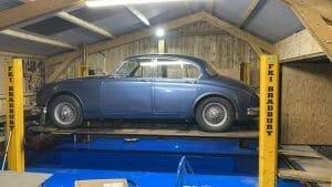 Barn Conversions to Garage - Car on Ramp
