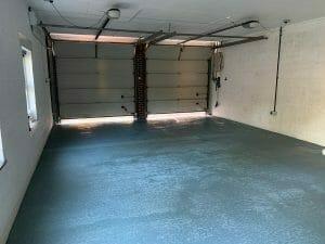 Grey garage floor paint