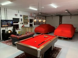 Pool Table in Garage Conversion