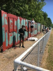 Container Paint for Watcombe FC